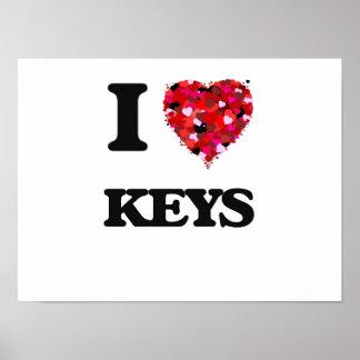 Amo llaves póster