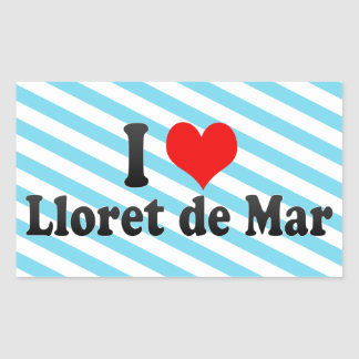 Amo Lloret de Mar, España Pegatina Rectangular