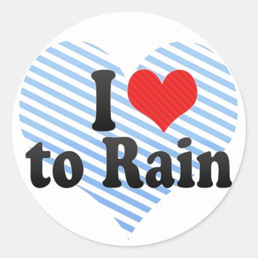 Amo llover pegatina
