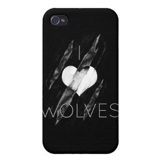 Amo lobos iPhone 4 cobertura
