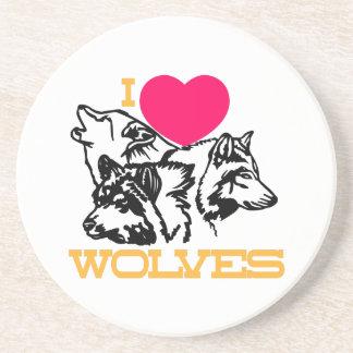 Amo lobos posavasos cerveza