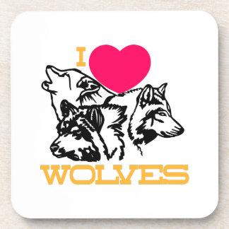 Amo lobos posavasos