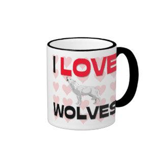 Amo lobos tazas