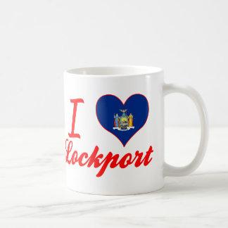 Amo Lockport, Nueva York Taza Básica Blanca