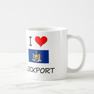 Amo Lockport Nueva York Taza Básica Blanca