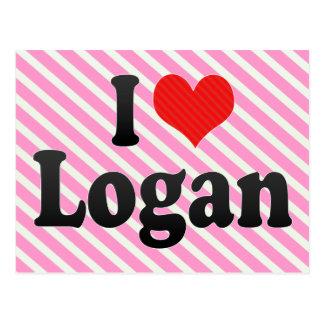 Amo Logan Tarjeta Postal