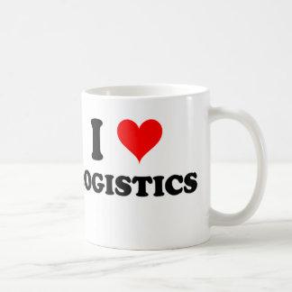 Amo logística taza de café