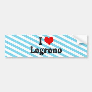 Amo Logrono, España Etiqueta De Parachoque
