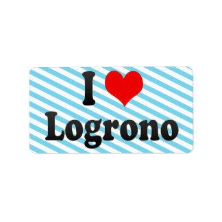 Amo Logrono, España Etiqueta De Dirección