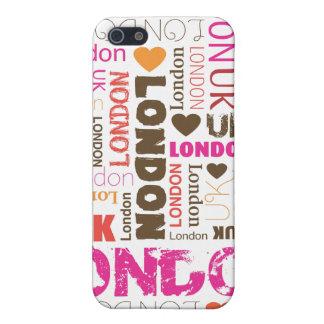 amo londen el caso del iphone de la tipografía iPhone 5 cárcasa