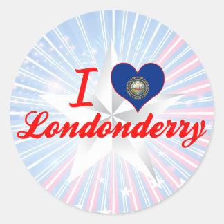 Amo Londonderry, New Hampshire Pegatina Redonda