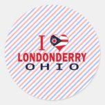 Amo Londonderry, Ohio Etiqueta Redonda