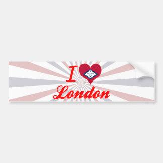 Amo Londres, Arkansas Etiqueta De Parachoque
