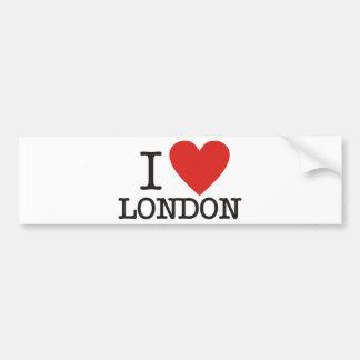 Amo Londres Etiqueta De Parachoque