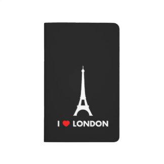 Amo Londres - diario del bolsillo de la torre Eiff Cuaderno