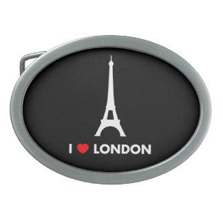 Amo Londres - hebilla del cinturón de la torre Eif