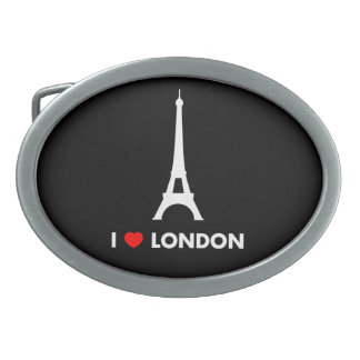 Amo Londres - hebilla del cinturón de la torre Hebilla Cinturón Oval