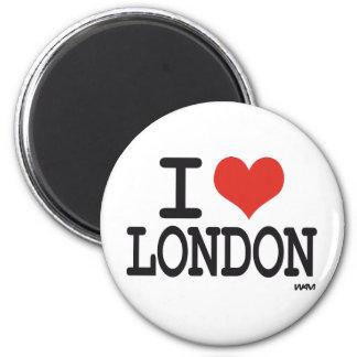 Amo Londres Imán Redondo 5 Cm