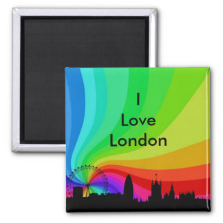 Amo Londres Imán Cuadrado