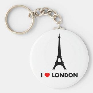 Amo Londres - llavero de la torre Eiffel