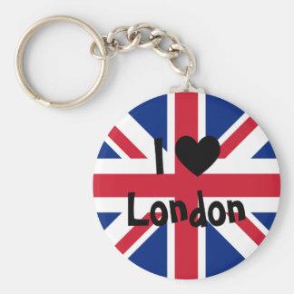Amo Londres Llavero Redondo Tipo Pin