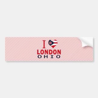 Amo Londres, Ohio Pegatina De Parachoque