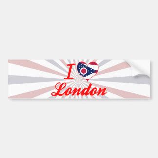Amo Londres, Ohio Etiqueta De Parachoque