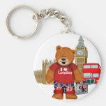 Amo Londres - oso de peluche Llavero