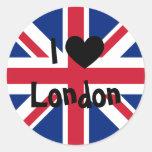 Amo Londres Pegatinas Redondas