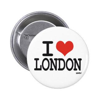 Amo Londres Pin Redondo De 2 Pulgadas