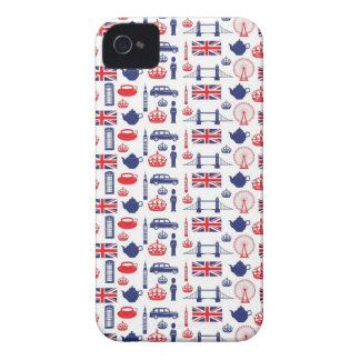 Amo Londres - todo Londres iPhone 4 Case-Mate Coberturas