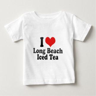 Amo Long Beach+Té helado Playera Para Bebé