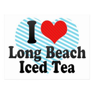 Amo Long Beach+Té helado Tarjetas Postales