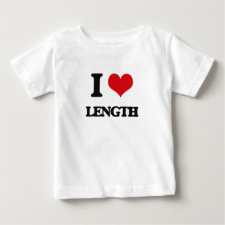 Amo longitud camiseta