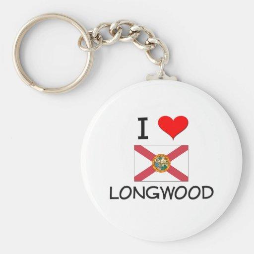 Amo LONGWOOD la Florida Llavero Personalizado