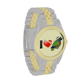 Amo loros de la Santa Lucía Relojes