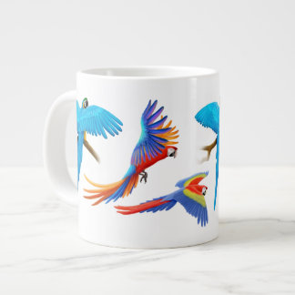 Amo loros del Macaw Taza Grande