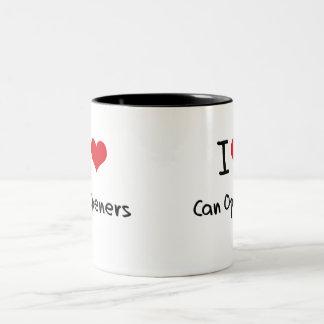 Amo los abrelatas tazas de café