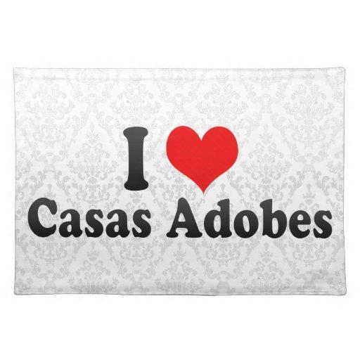 Amo los adobes de los Casas, Estados Unidos Mantel Individual