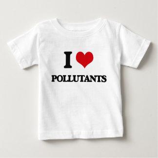 Amo los agentes contaminadores playera para bebé