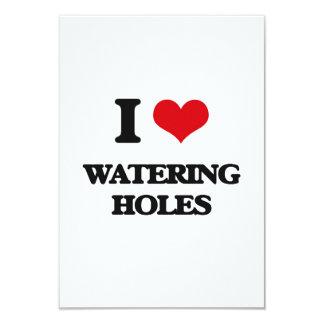 """Amo los agujeros de riego invitación 3.5"""" x 5"""""""