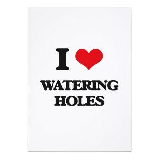 """Amo los agujeros de riego invitación 5"""" x 7"""""""