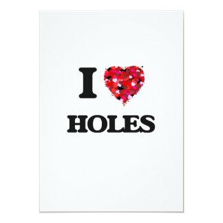 """Amo los agujeros invitación 5"""" x 7"""""""