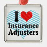 Amo los ajustador de seguro adorno para reyes