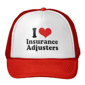 Amo los ajustador de seguro gorras