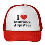 Amo los ajustador de seguro gorros bordados