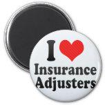 Amo los ajustador de seguro imán