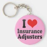 Amo los ajustador de seguro llavero