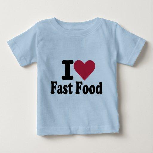 Amo los alimentos de preparación rápida camiseta