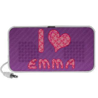 amo/los altavoces del doodle de Emma del corazón p
